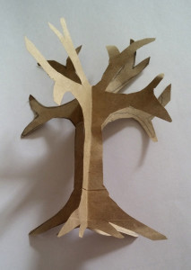 Step 3: paper craft tree tutorial