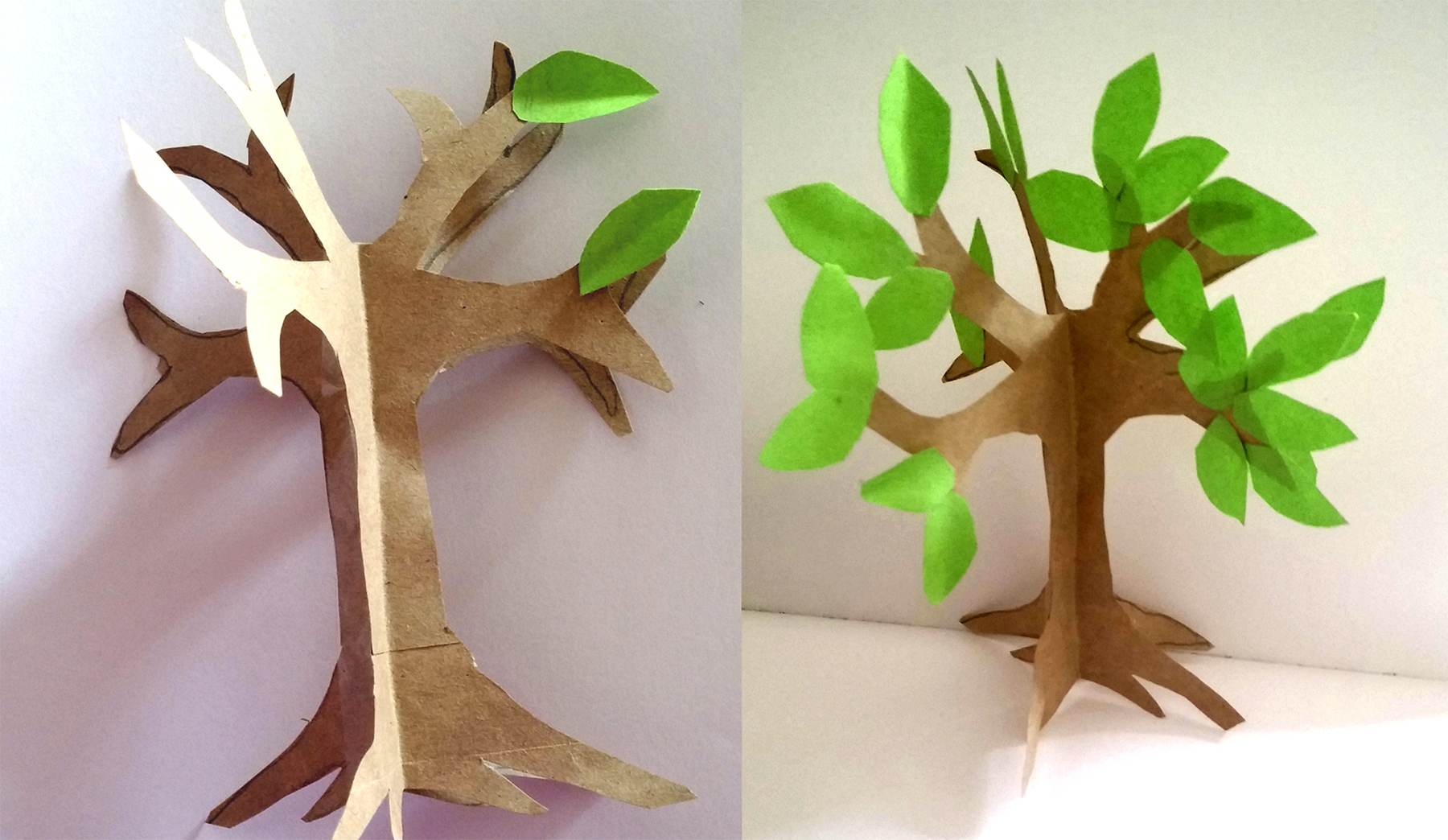Easy paper craft tree tutorial