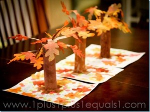 3D Autumn Trees - Paper Craft
