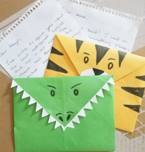 DIY Animal Envelopes tutorial
