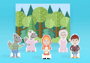 paper finger puppets_red riding hood_mockup_ imagine forest