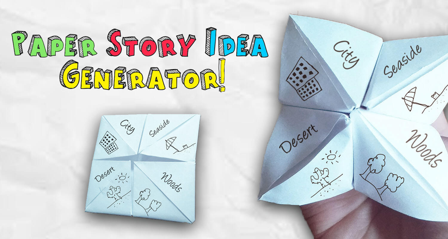 Paper Story Idea Generator for kids - Imagine Forest