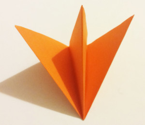 Easy origami fox tutorial -5-1