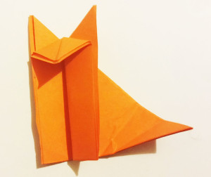 Easy origami fox tutorial -8
