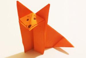 Easy origami fox tutorial -9