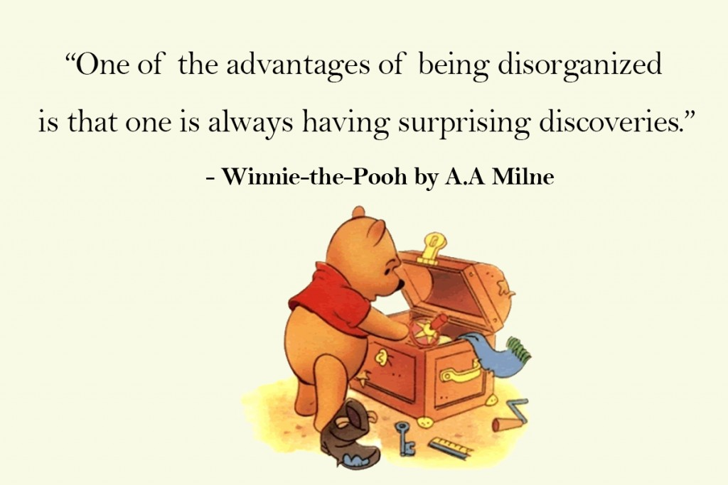 Winnie the Pooh disorganised quote