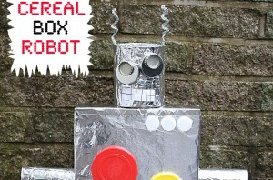 Cereal box robot for kids