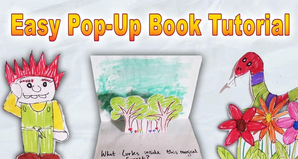 Imagine Forest - easy pop-up book tutorial for kids