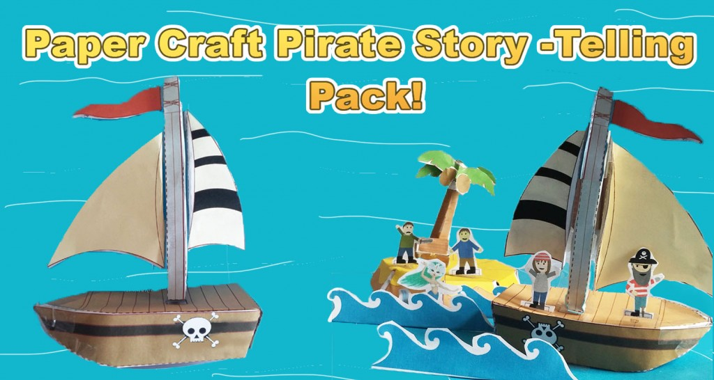 Paper Craft Pirate Story Pack - Imagine Forest