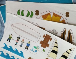 Paper Craft Pirate Story Pack - step 1-Imagine Forest