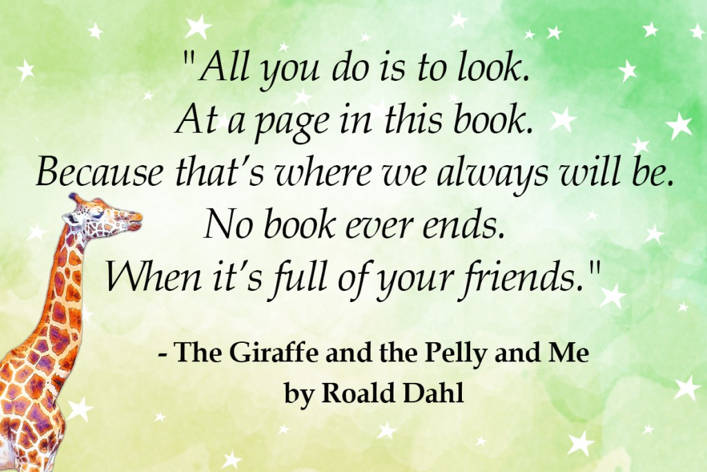 the giraffe and the pelly and me - top 10 roald dahl quotes Imagine Forest