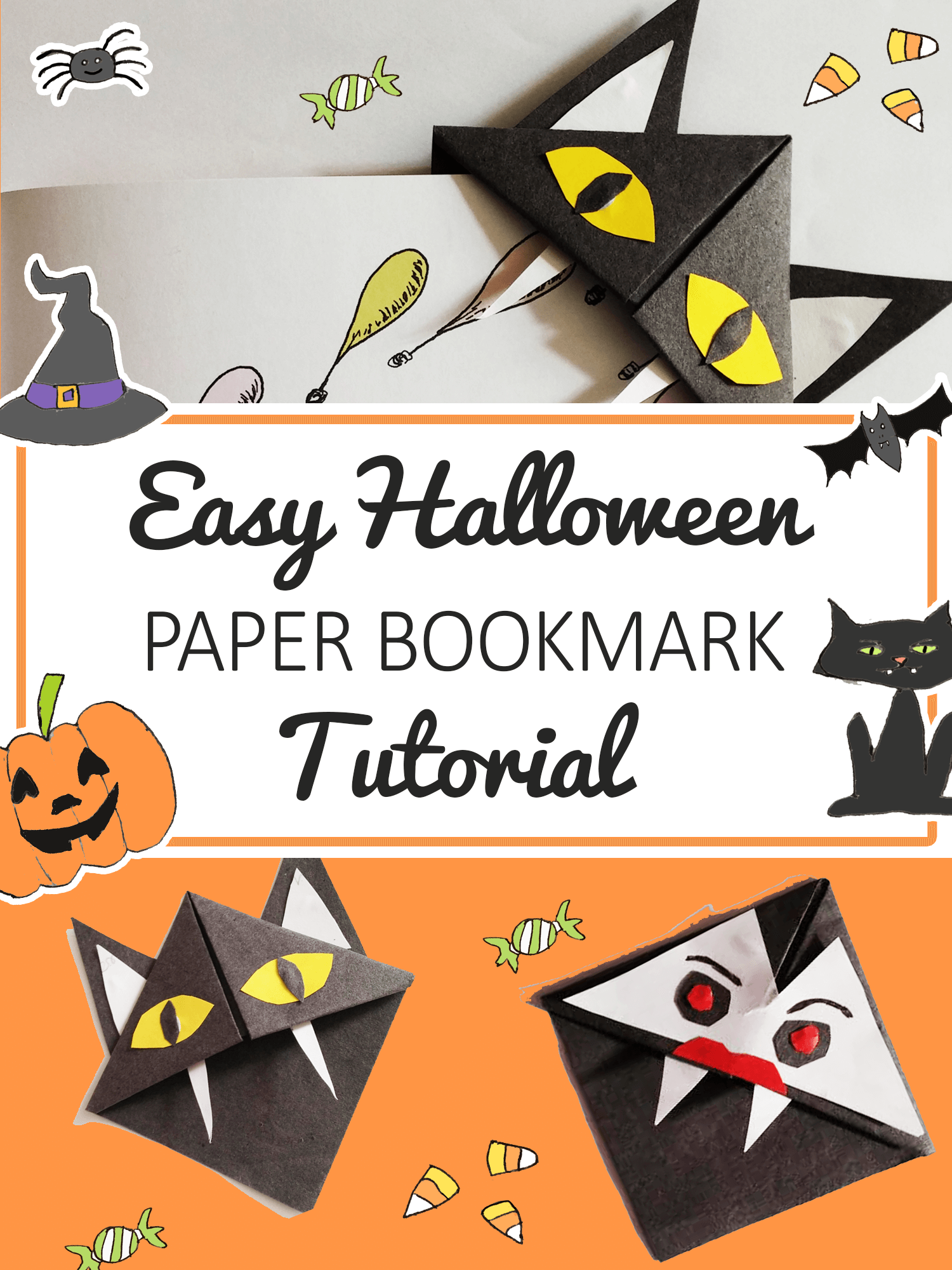 halloween paper bookmark tutorial - Imagine Forest2
