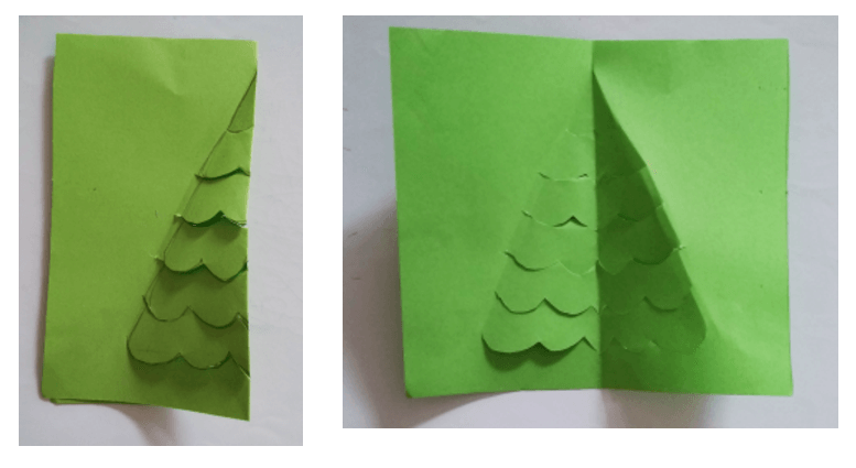 step 3 - 3d christmas card tutorial for kids - Imagine Forest