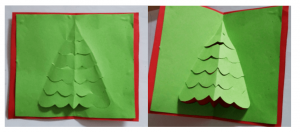 step 4 - 3d christmas card tutorial for kids - Imagine Forest
