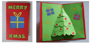 step 5 - 3d christmas card tutorial for kids - Imagine Forest