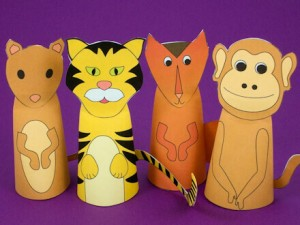 Storytelling Activities for Kids on story-telling day_DIY finger cone puppets_imagine forest