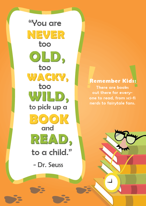 Dr. Seuss Quotes about Reading _ you are never too old _ imagine forest