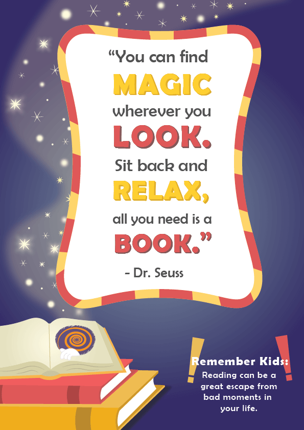Dr. Seuss Quotes about Reading _ you can find magic wherever you look _ imagine forest