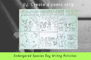 Writing Activities for Endangered Species Day _create a comic strip_Imagine Forest