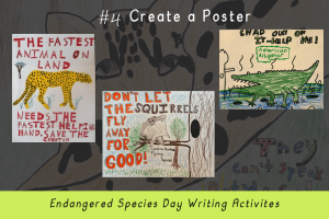 Writing Activities for Endangered Species Day _create a poster_Imagine Forest