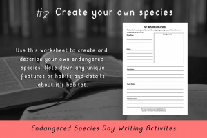 Writing Activities for Endangered Species Day _create your own species_Imagine Forest