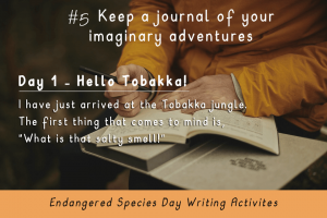 Writing Activities for Endangered Species Day _keep a journal_Imagine Forest