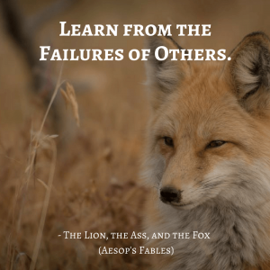 Life Lessons From Aesop's Fables _ the lion, the ass and the fox quotes