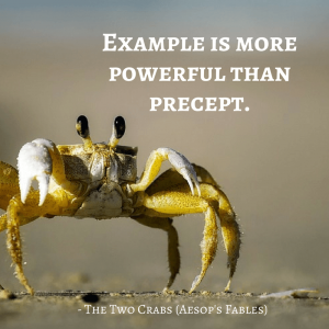 Life Lessons From Aesop's Fables _ the two crabs quotes