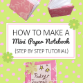 How to Make a Mini Paper Notebook Tutorial _ imagine forest
