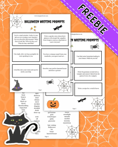 12 Halloween Writing Prompts for kids Printable