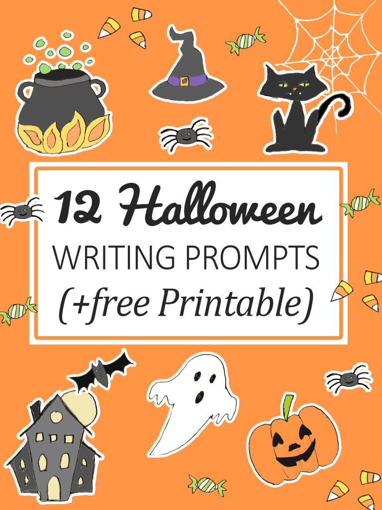 12 Halloween Writing Prompts for kids (+ Printable)