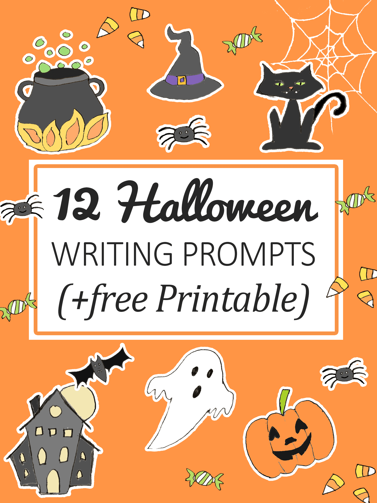 12 Halloween Writing Prompts for kids (+ Printable)