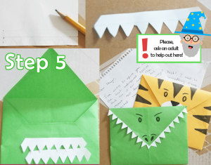 step 5_DIY Animal Envelopes tutorial