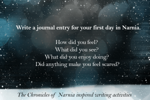 writing Activities Inspired by the Chronicles of Narnia journal entry _imagine forest