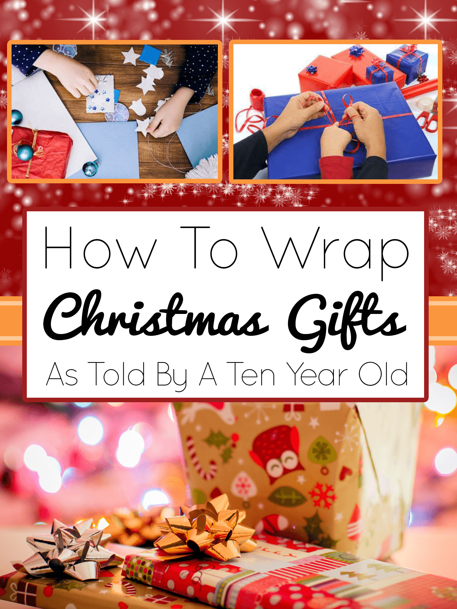 How To Wrap Christmas Gifts _ imagine forest christmas