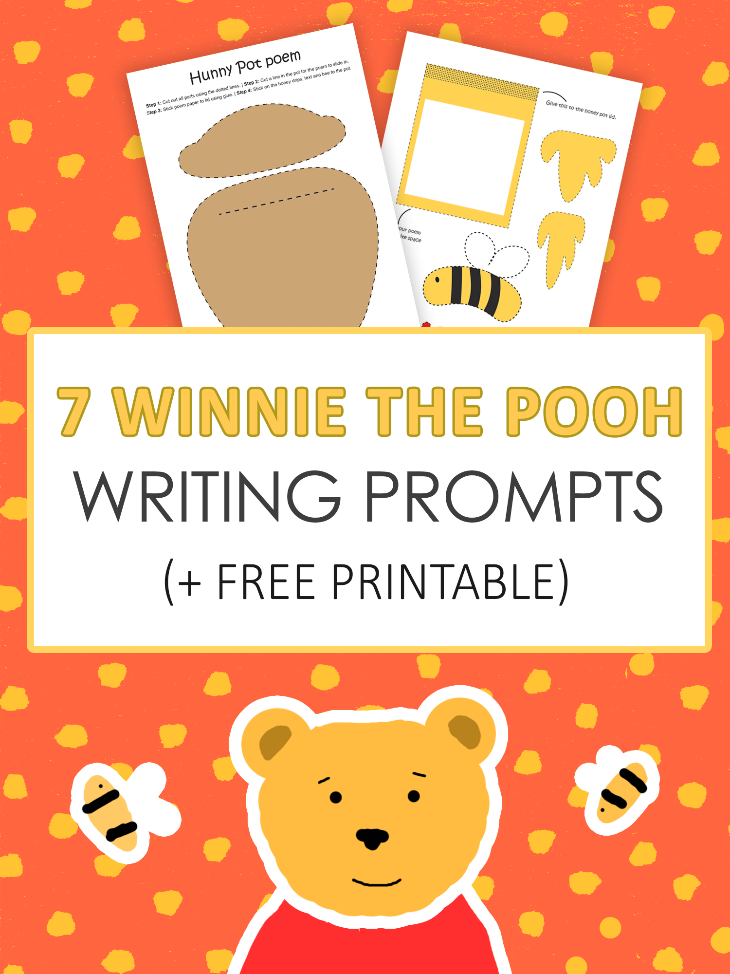 picture regarding Printable Writing Prompts identified as 7 Winnie the Pooh Creating Prompts Consider Forest