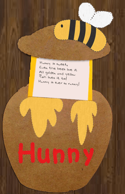 Winnie the Pooh writing prompts-Hunny poems activity