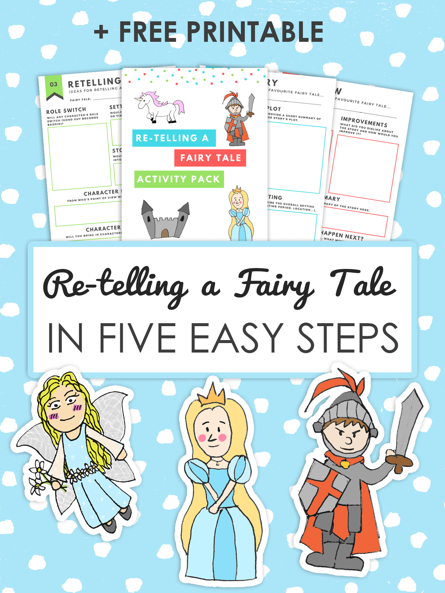 How to Retell a Fairy tale in Five Easy Steps imagine forest
