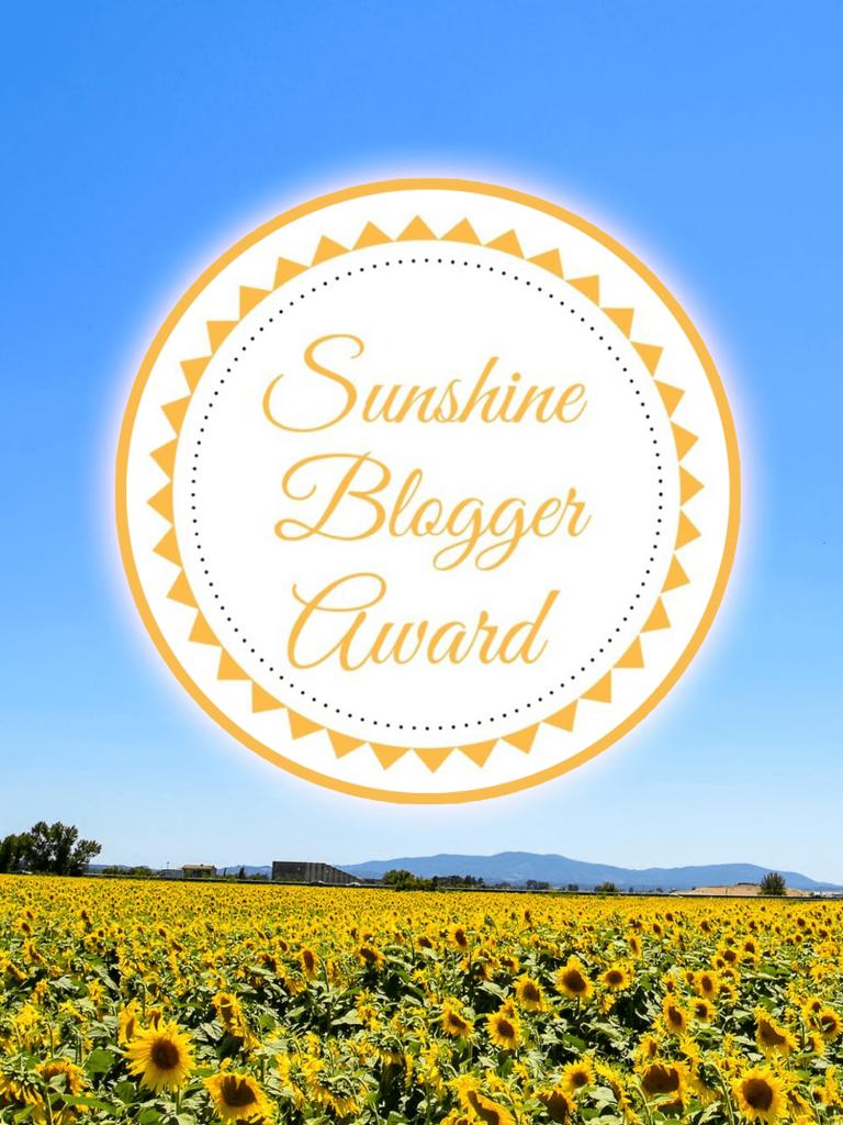 sunshine blogger award - imagine forest