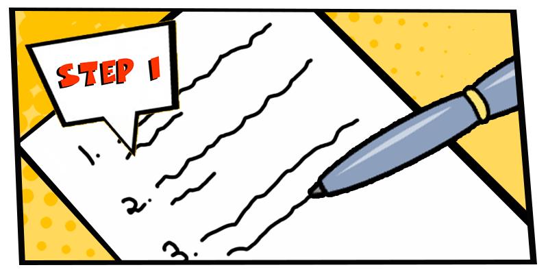 how to create a comic strip-step 1