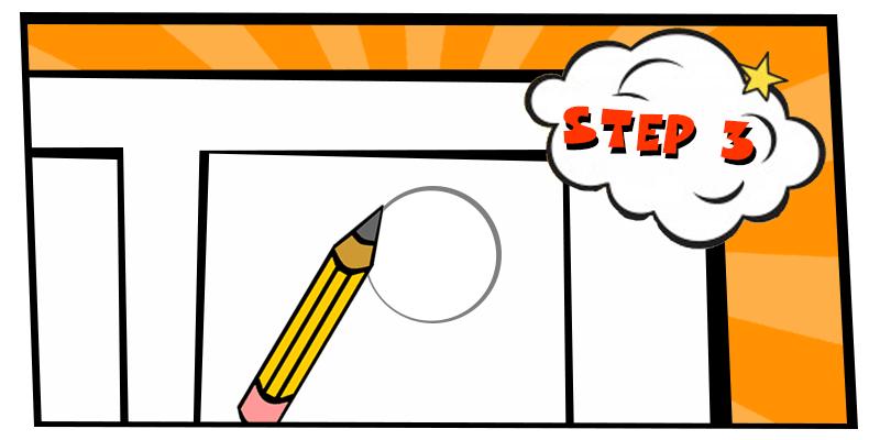 how to create a comic strip-step 3