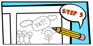 how to create a comic strip-step 5