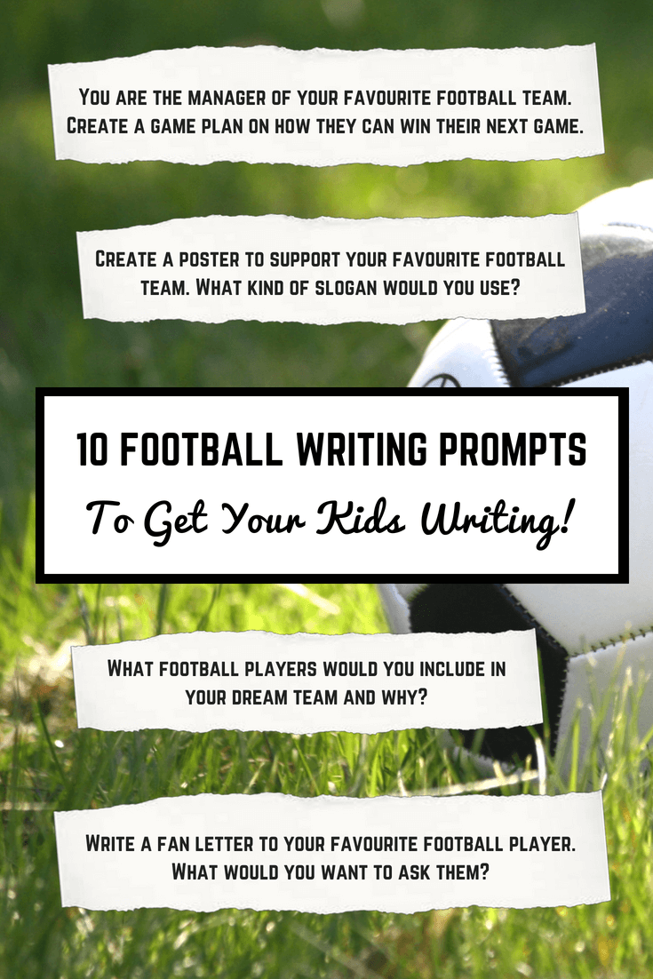 10 Football writing prompts by Imagine Forest