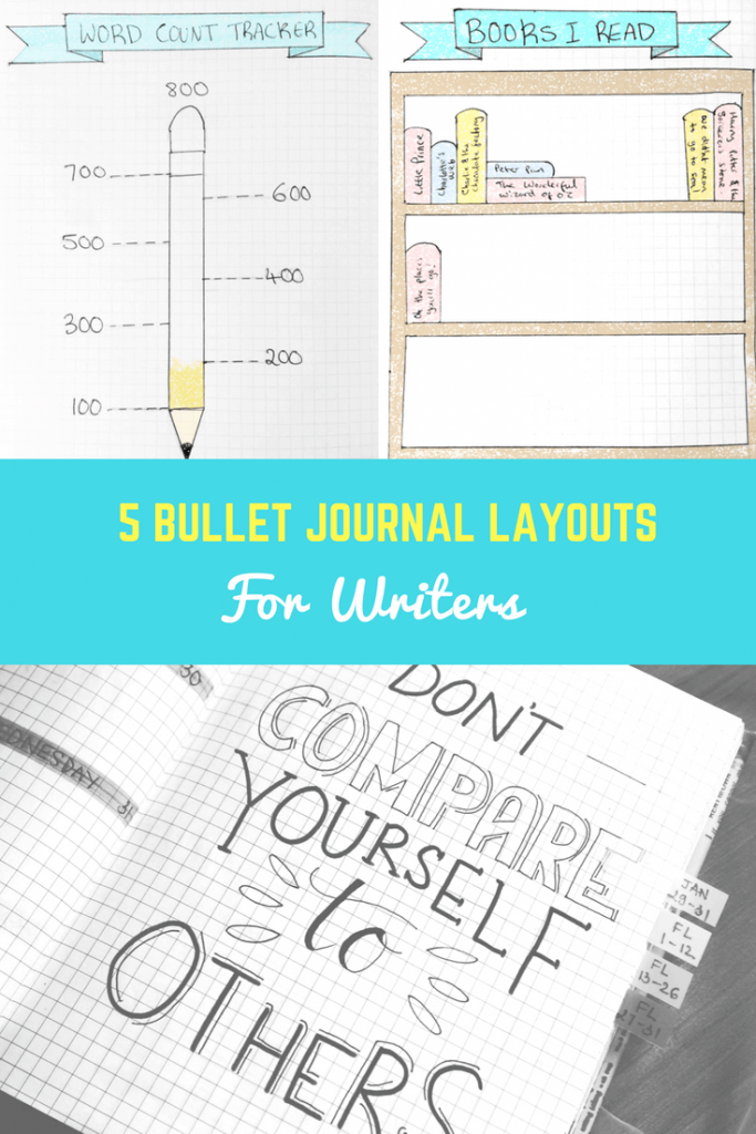 5 Bullet Journal Layouts for Writers by Imagine Forest