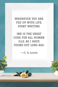 Quotes about Writing c.s. lewis
