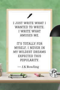 Quotes about Writing jk rowling