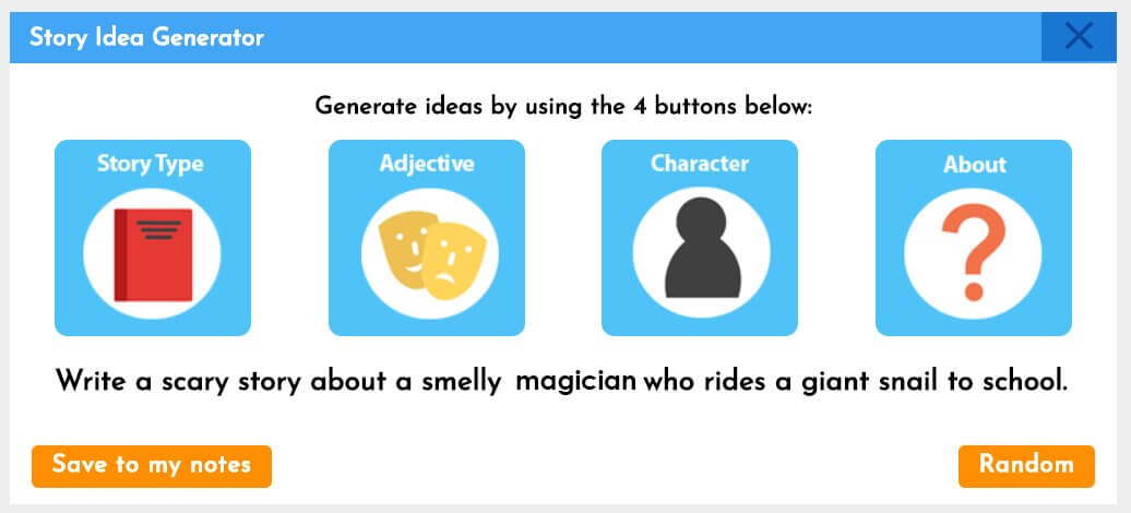 online story cube generator