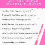 3rd Grade Journal Prompts