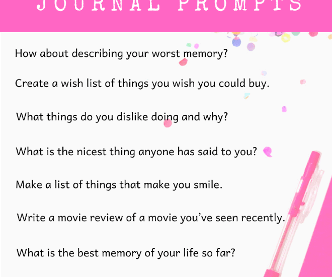 3rd Grade Journal Prompts