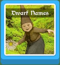 dwarf names generator button